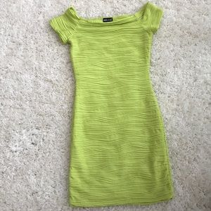 Perfect condition size Med lime green dress
